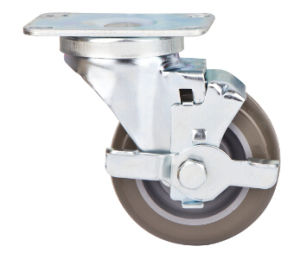 76mm Medium Duty Caster with Side Brake pictures & photos