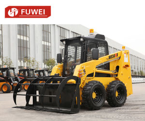 Dancing Wheel Loader Ws50 Skid Steer Loader Mini Dumper Bobcat Case Ce Rops Fops with Planer