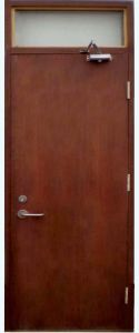 Britain Standard Solid Wooden Fire Door with New Style pictures & photos