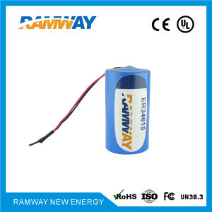 3.6V Lithium Primary Battery for Wireless Vehicle Detection Products (ER34615) pictures & photos