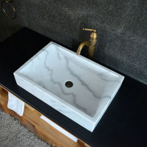 Guangxi White Marble Natural Stone Bathroom Sink pictures & photos