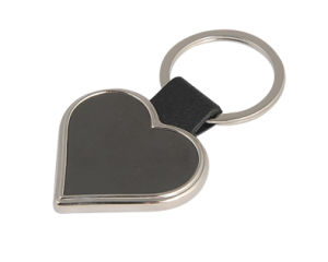Promotional Heart Shaped Leather Key Chain Logo Key Holder (F1038B) pictures & photos