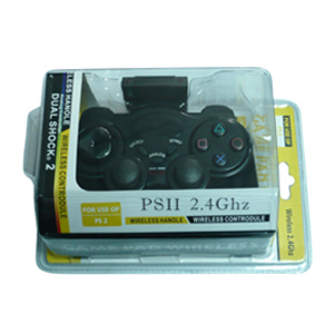 2.4G Wireless Double Shock Game Controller for PS2
