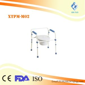 Superior Quality Steel Folding Commode Chair pictures & photos
