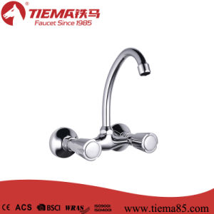 New Design Brass Body Chrome Bathroom Shower Mixer (ZS64102) pictures & photos