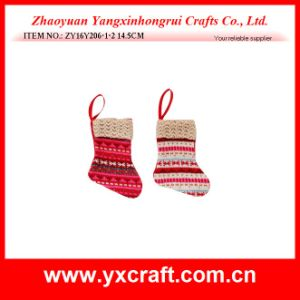 Christmas Gift Small Sock Design Artificial Christmas Tree Decoration pictures & photos