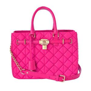 Fashionable Lady Light Plum Red Handbag, Double Handle Lady Bag