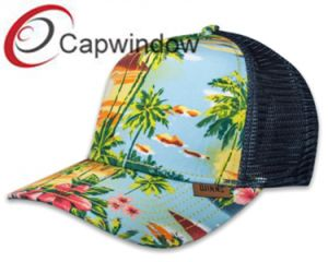 Printed Hawaii Style Fashion Leisure Sport Summer Trucker Mesh Cap pictures & photos