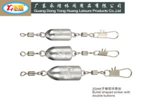 Die Casting Bullet Shaped Fishing Lead Sinker with Snap pictures & photos