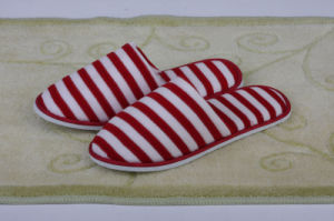 Red and White Cross Cloth Slipper