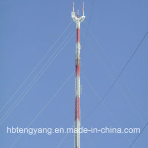 Guyed Line Lattice Steel Tower of Telecom Tower pictures & photos