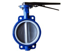 Lever Operated Cast Iron Pn 16 Wafer Type Butterfly Valves