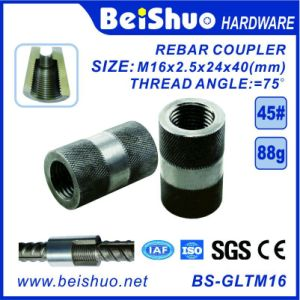 M16-L40mm Building Construction Rebar Coupler with Straight Screw Sleeve pictures & photos