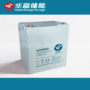 12V 50ah Solar Power Battery with Ce Certificate pictures & photos