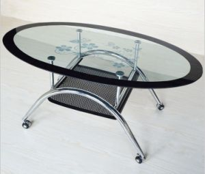 Wholesale Modern Oval Tempered Glass Coffee Table pictures & photos