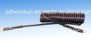 Polyurethane Coil Hose with Copper Fittings pictures & photos