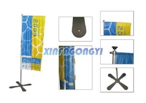 Vertical Flag Rectangle with Cross Base Pole pictures & photos