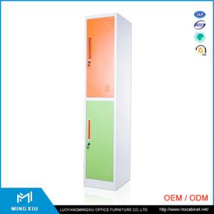 Factory Supply 2 Door Metal Lockers Storage Cabinets / Metal Double Door Locker pictures & photos