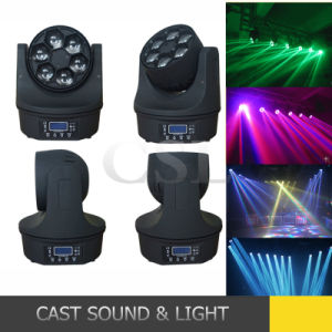 6PCS 15W Osram Bee Eye RGBW 4in1 LED Mini Moving Head Wash pictures & photos