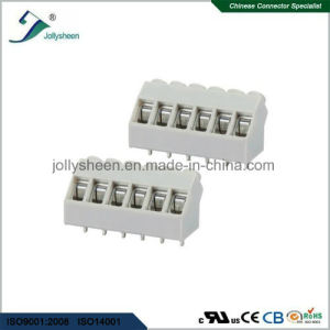 PCB Screw Terminal Blocks Pitch 5.0mm 6p DIP Type with Grey Housing pictures & photos