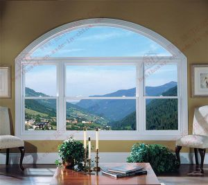Curved Aluminum Double Hung Window (BHA-LWA01) pictures & photos