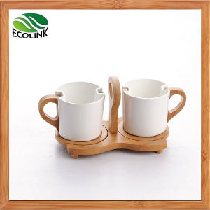 Bamboo Ceramic Couples Cup pictures & photos