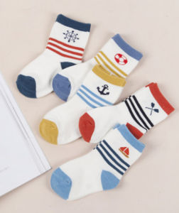 High Quality Colorful Cute Cartoon Cotton Baby Socks Wholesale pictures & photos