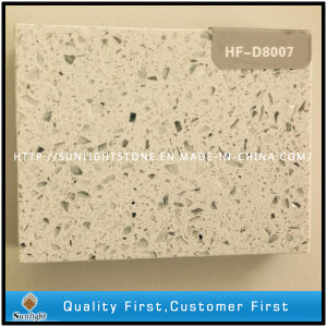 Engineered Artificial Crystal White Quartz Slabs for Countertops/Tiles pictures & photos