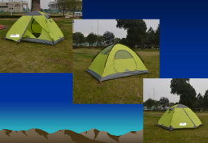 210t Polyester Aluminium Pole Camping Tent for 2 Persons (JX-CT009) pictures & photos