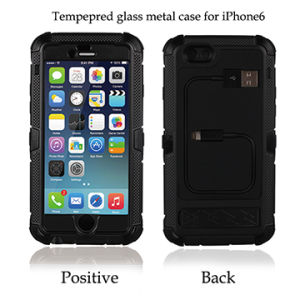 4.7 Inch for iPhone 6 Case with Tempered Glass, Aluminum, Silicone Materials