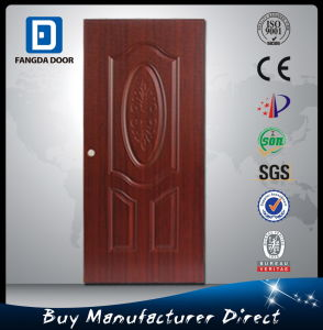 Red Cherry Metal Interior Steel Iron Door with Embossed Flower Design pictures & photos