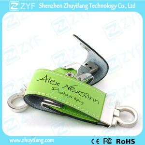 Custom Colorful Keychain Leather USB Pen Drive (ZYF1418) pictures & photos
