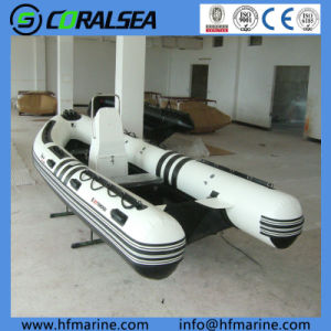 Inflatable Boat with Fiberglass Rib Bottom Hsf580 pictures & photos