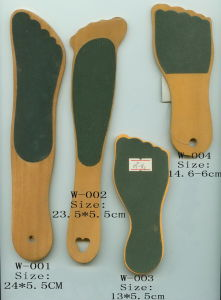 Wooden Foot Shape Pedicure Foot File (JMHF-37) pictures & photos