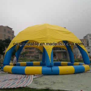 2017 Round Shape Inflatable Pool with Cover, Outdoor Inflatable Swimming Pool for Kids and Adult pictures & photos