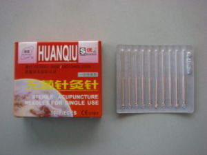 0.25X25mm Acupuncture Needle Without Tube, Copper Handle - Huanqiu Brand pictures & photos