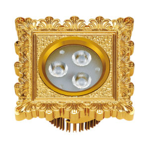 24k Gold Finish Solid Brass LED Spotlight pictures & photos