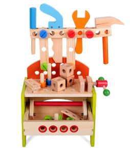 Wood Tool Bench Play Set for Kids Good for Sale