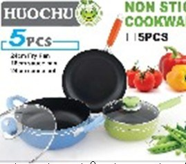 5PC Aluminum Non-Stick Cookware Set pictures & photos