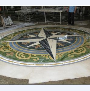 Marble Floor or Ceiling Waterjet Medallion (HZX0415L) pictures & photos