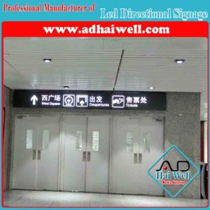 Airport Bus Stop Shopping Mall Hanging Acrylic Sign Light Box pictures & photos