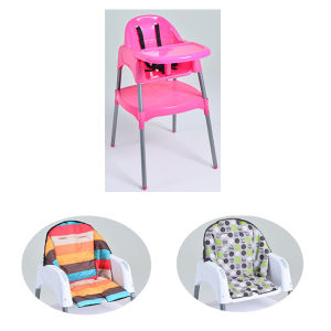 Pink Sturdy Baby High Chair for Sitting and Playing (HC4501)