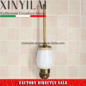 Wall Mounted Oil Rubbed Bronze Toilet Brush Holder with Ceramic Cup pictures & photos
