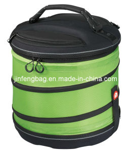 Folding Insulated Collapsible Round Cooler Bag