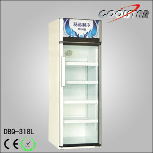 Commercial Single Glass Door Refrigerator Showcase (DBQ-318L) pictures & photos