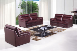 Brown Color Leather Sofa Bed Foldable Sofa Bed pictures & photos