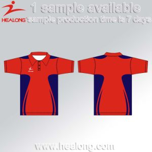 Healong Biggest Factory Digital Printing Man Sports Polo Shirt pictures & photos
