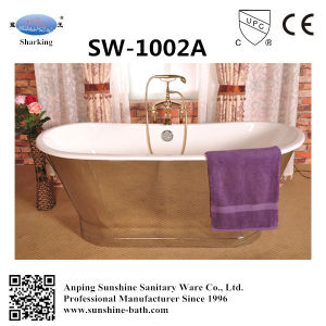 Anique Stainless Steel Cast Iron Bathtub Sw-1002A