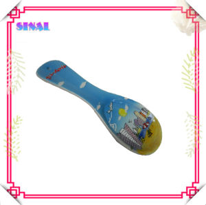 100% Handmade Ceramic Painted Scenery Spoon Rest