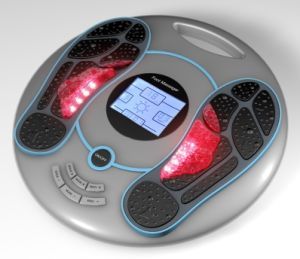 Electric Magnetic Wave Pulse Foot Massager with Color LCD Screen